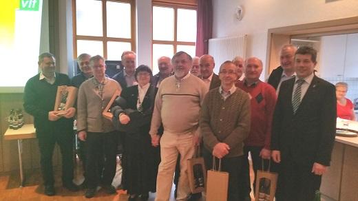 50-Jährige Mitgliedschaft: Für 50 Jahre Treue zur Organisation dankte der vlf 23 Mitgliedern. Foto: Michael Zeller