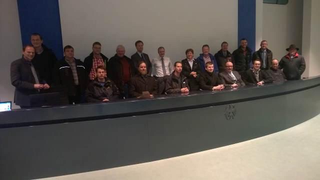Die Teilnehmer des vlf-Seminars im Bundeskanzleramt