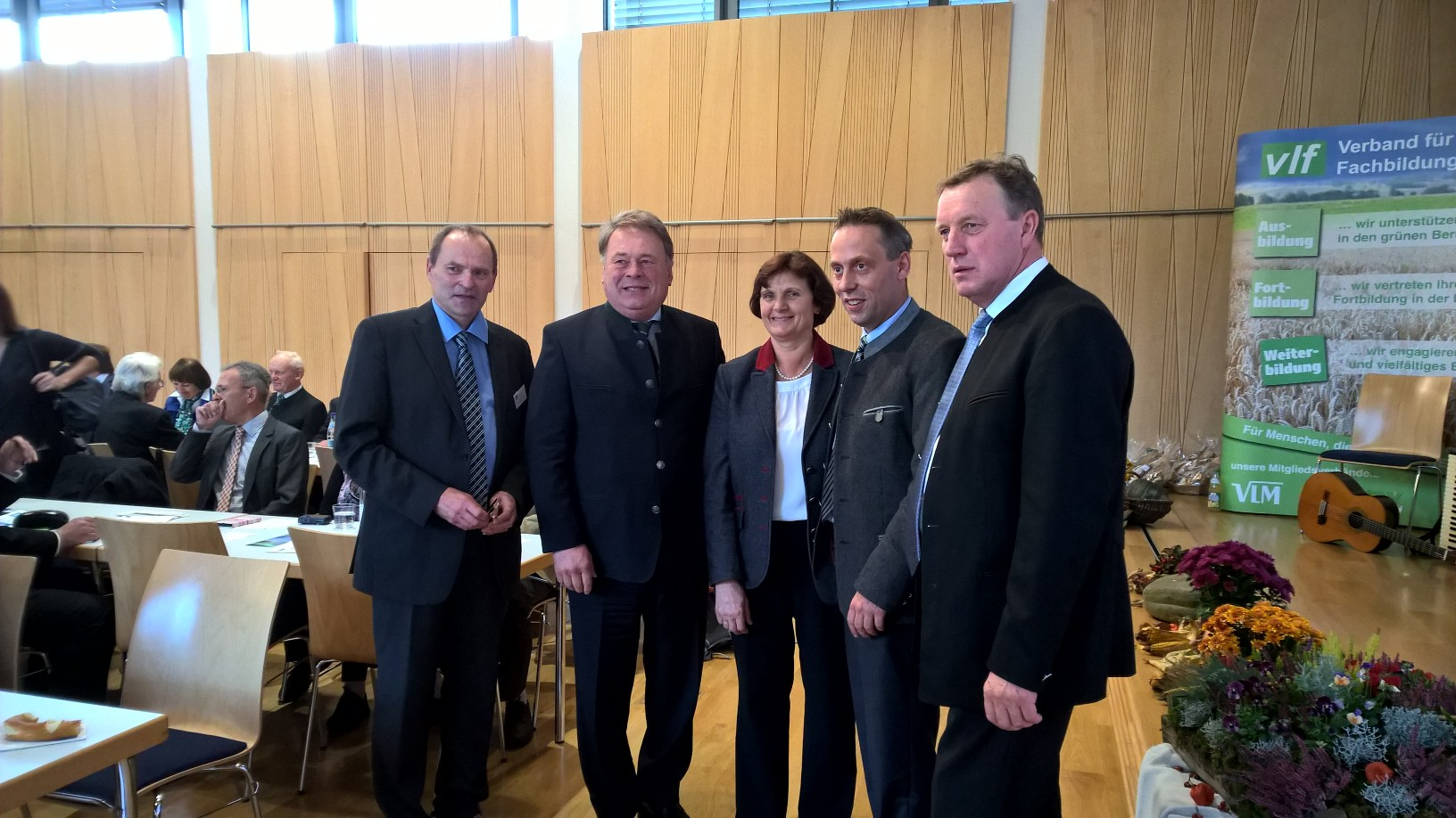 v. li.: Thomas Mirsch, Minister Helmut Brunner, Christine Wutz, Hans Koller und Harald Schäfer