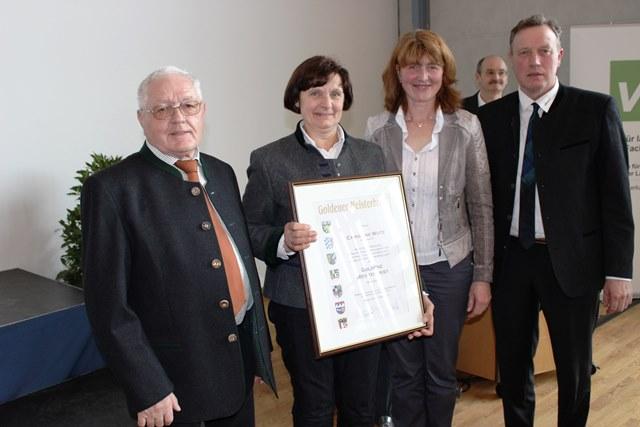 v.li.: Friedhelm Bleicher, Christine Wutz, Brigitte Stautner und Harald Schäfer